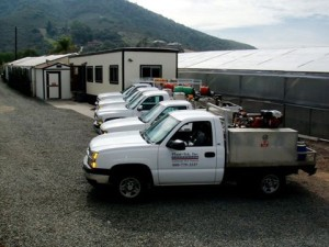 All trucks and office photo